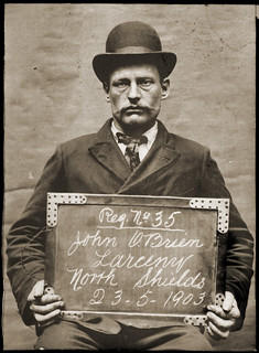 John O'Brien, fireman, arrested for stealing a waatch