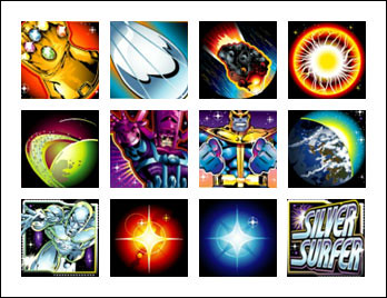free Silver Surfer slot game symbols