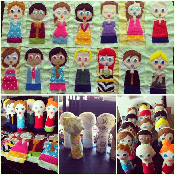 How the army of felt dolls came together