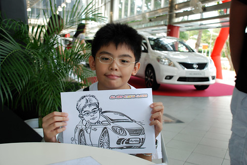 Caricature live sketching for Tan Chong Nissan Almera Soft Launch - Day 2 - 30