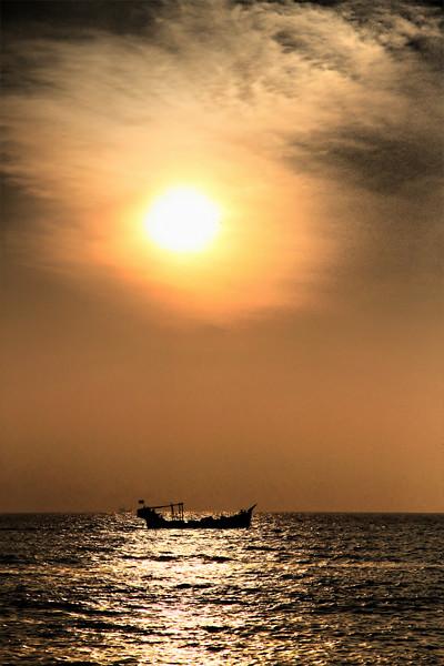 Sunset at Cox's Bazar Beach