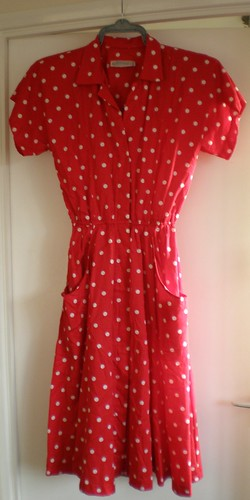 Vintage red shirt dress