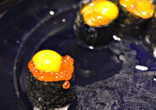 Salmon Roe with Quail Egg