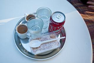 Cyprus coffee is small Turkish coffee