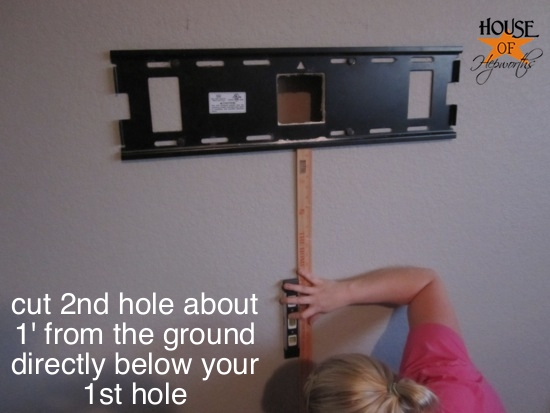 How to mount your tv to the wall and hide the cords - House