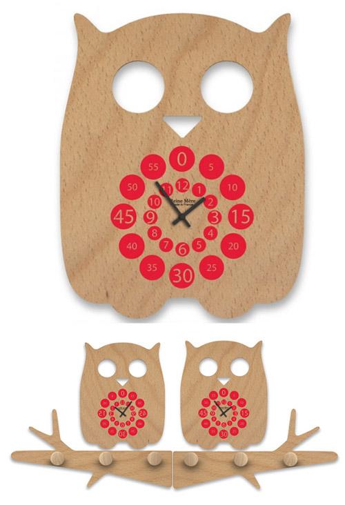 wooden-owl-clock