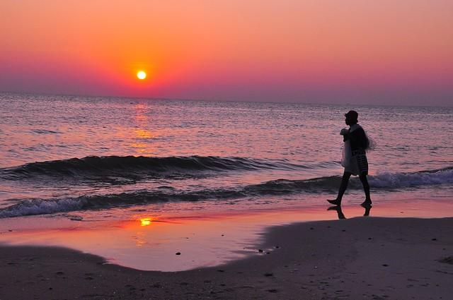 Fisherman Walking, Hua Hin Beach