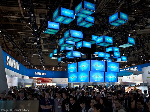 Samsung Smart TV Display at CES