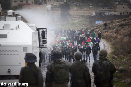 Demonstration against the occupation, Nabi Saleh, West Bank, 13.01.2012