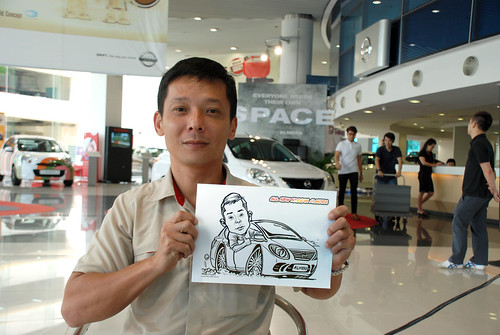 Caricature live sketching for Tan Chong Nissan Motor Almera Soft Launch - Day 3 - 14