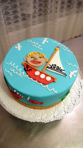 Cartoon Sailboat Birthday Cake by CAKE Amsterdam - Cakes by ZOBOT