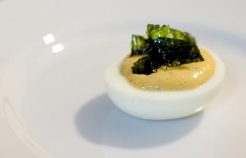 kimchi devilled egg
