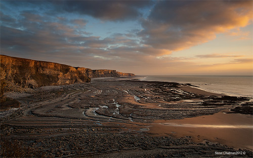 uk sea cliff beach wales clouds canon sand rocks 2012 traethmawr heritagecoast leefilters eos5dmk11 stevechatman