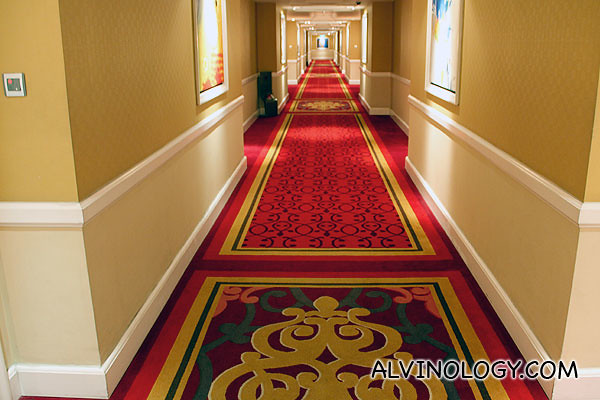 Corridor leading to the rooms