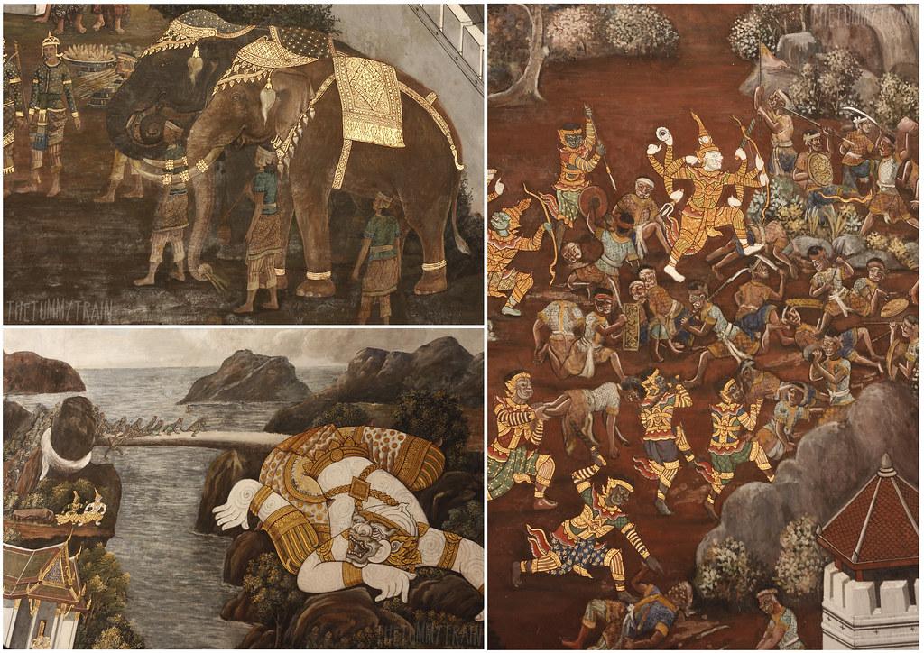 Amazing Ramayana murals