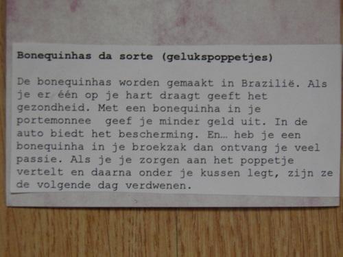 gelukspoppetje uit Brazillie