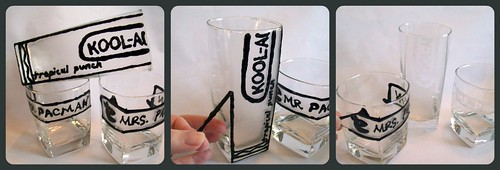 6716825377 c474f11469 Puff, puff, paint: How to freehand etch glassware with fabric paint