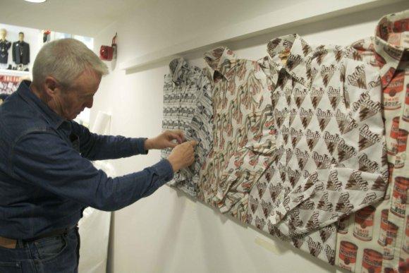 Lloyd Johnson exhibition install: Day 3