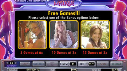 Mystique Club free spins