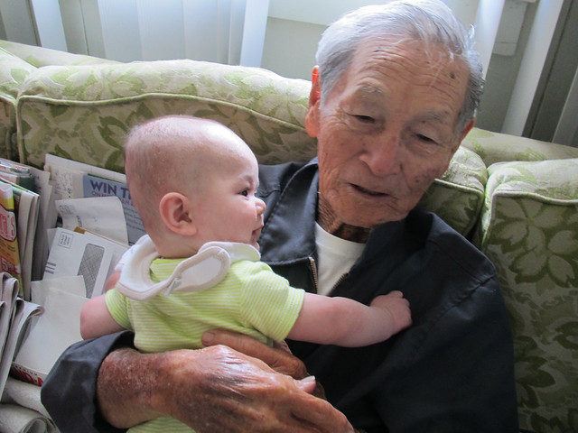 Meeting Great-Grandparents