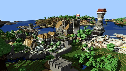 Render Image of our Minecraft Village