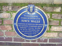 Photo of Town Walls, Hull blue plaque