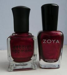 dark red comparison