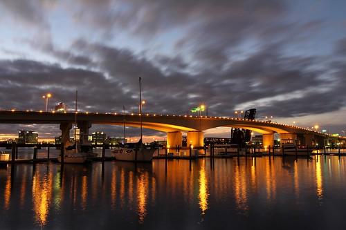 bridge sunset night lowlight jacksonville