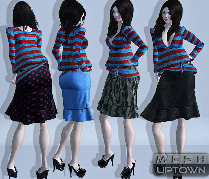 Reila Skins - MESH Skirt Uptown POSTER