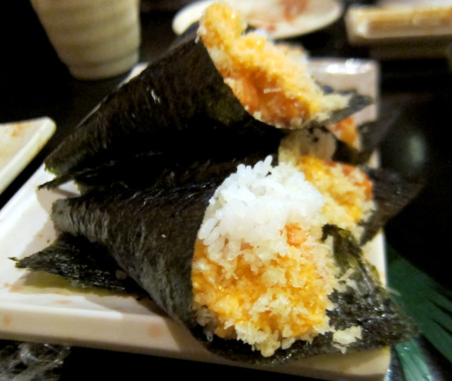 Spicy Salmon Hand Roll