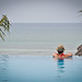 Infinity pool overlooking the ocean in Zanzibar