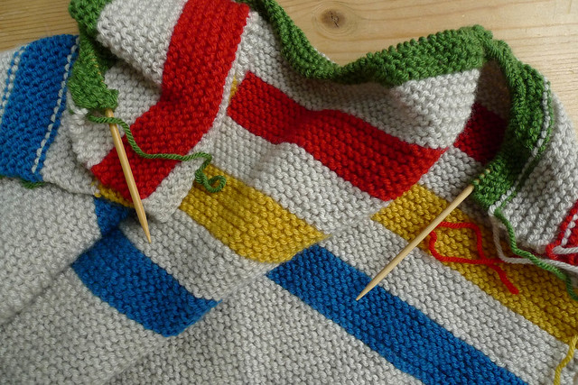 Knitting Pattern For Hudson Bay Blanket : WIP - Hudson Bay Inspired Crib Blanket Flickr - Photo ...