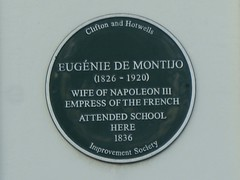 Photo of Eugenie de Montijo green plaque