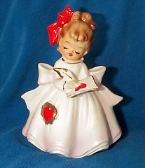 Vintage Valentine Girl Planter - Japan