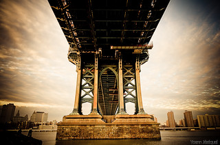 The Manhattan bridge in New York City, USA