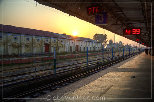 Panthankot Train Station sunset HDR