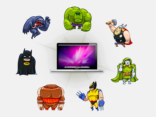 Heroes & Villains Mac Desktop iCons by The Iconfactory_