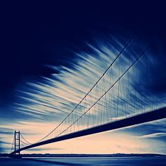 [フリー画像素材] 建築物・町並み, 橋, 青色・ブルー ID:201202031200