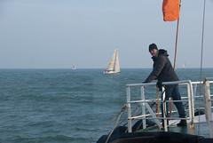 Peter op het startschip