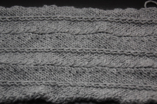 Basic Chevron Stitch Knitting Practice