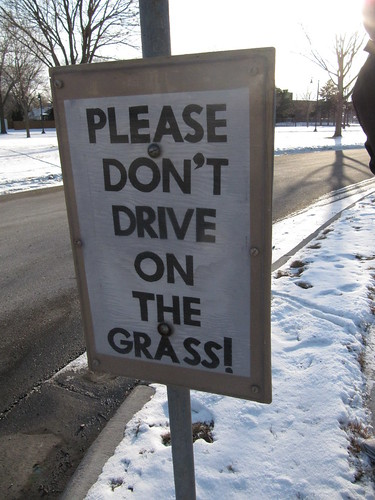 Please Don't Drive on the Grass!