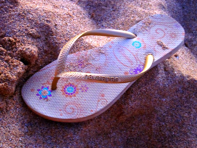 Picture of sandal in sand
