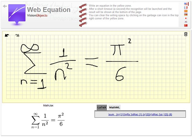 Web Equation, de mano alzada a código LaTeX