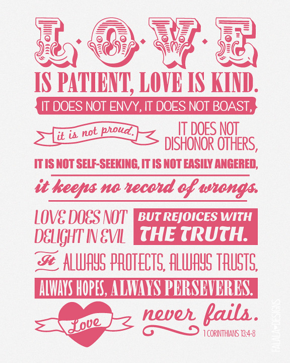 Wedding Reading Love Is Patient: Dunham Design Company: MORE FREEBIES! 1 Corinthians 13