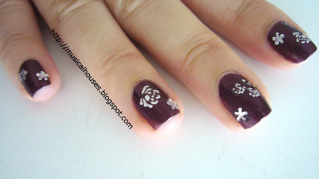 valentines day nails flowers 2