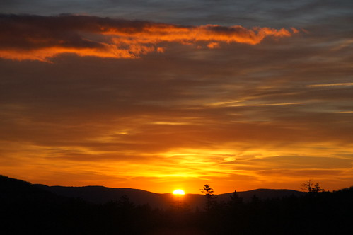 sunrise landscape snowshoe westvirginia