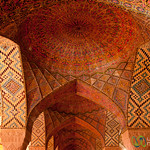 Inside Pink Mosque - Shiraz, Iran
