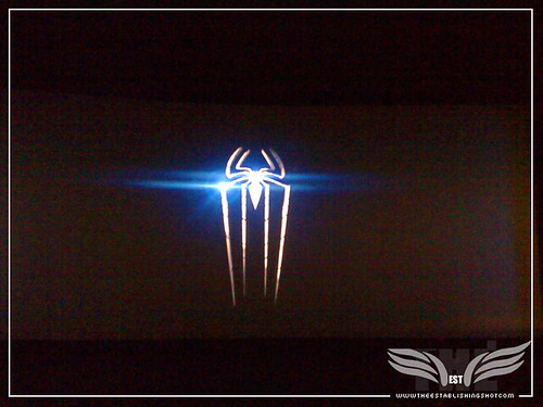 The Establishing Shot: The Amazing Spider-Man Sneek Peek Event - Amazing Spider-Man Logo - London by Craig Grobler