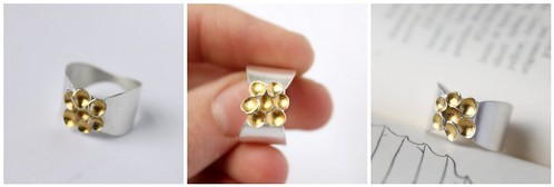 Golden Seed Cluster Ring
