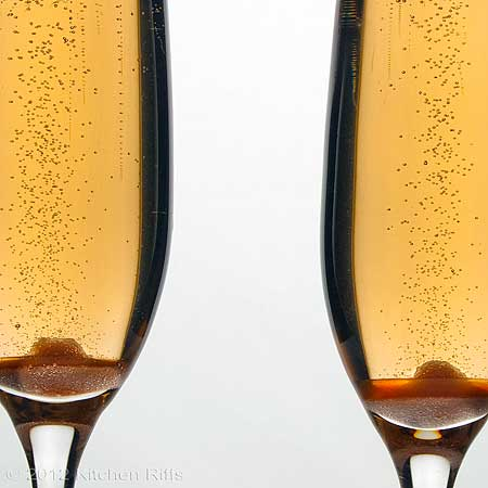 Champagne Cocktail in 2 glasses, close-up